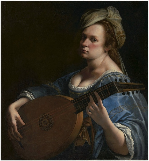 Lot 36. Artemisia Gentileschi (Rome 1593-1654 Naples)  Self-Portrait as a Lute Player  oil on canvas  30½ x 28¼ in. (77.5 x 71.8 cm.)  Estimate: $3-5 million.