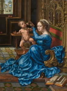 Gossaert, Jan, Netherlandish, c. 1478 - 1532 Madonna and Child c. 1532 oil on panel overall: 34.4 x 24.8 cm (13 9/16 x 9 3/4 in.) Gift of Grace Vogel Aldworth in memory of her grandparents Ralph and Mary Booth1981.87.1 National Gallery of Art, Washington, DC