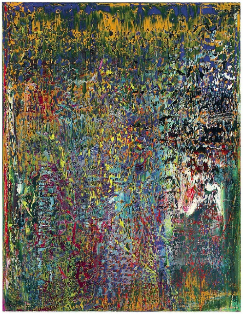 Lot 17. Gerhard Richter (b. 1932) Abstraktes Bild  signed, numbered and dated '709 Richter 1989' (on the reverse) oil on canvas 102.1/8 x 78.7/8in. (259.4 x 200.3cm.) Painted in 1989 Estimate on Request