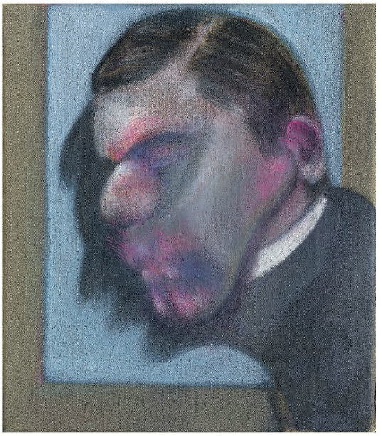Lot 24. Francis Bacon (1909-1992) Study for a Portrait signed, titled and dated 'Study for a portrait Francis Bacon 1978' (on the reverse) oil on canvas 14 x 12in. (35.5 x 30.5cm.) Painted in 1978 Estimate: £2,300,000 – £3,000,000 ($3,751,300 - $4,893,000)