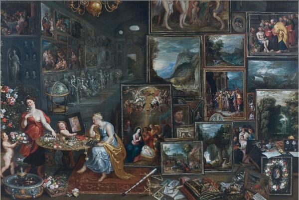 Lot 112. J. Boets Actif en Flandres, avant 1635 - après 1660  Allégorie de la Vue et de l'Odorat  Huile sur toile  Signée et datée 'J. BOETS fecit / 1660' en bas au milieu (signature reprise)  'ALLEGORY OF THE SENSES OF VIEW AND SMELL', OIL ON CANVAS, SIGNED AND DATED, BY J. BOETS  h: 135 w: 200 cm Estimate: €150,000-200,000. Click on image to enlarge.