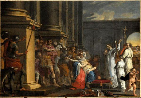 Saint Mathurin exorcising the Empress Theodora, Abbey Saint-Ouen in Rouen