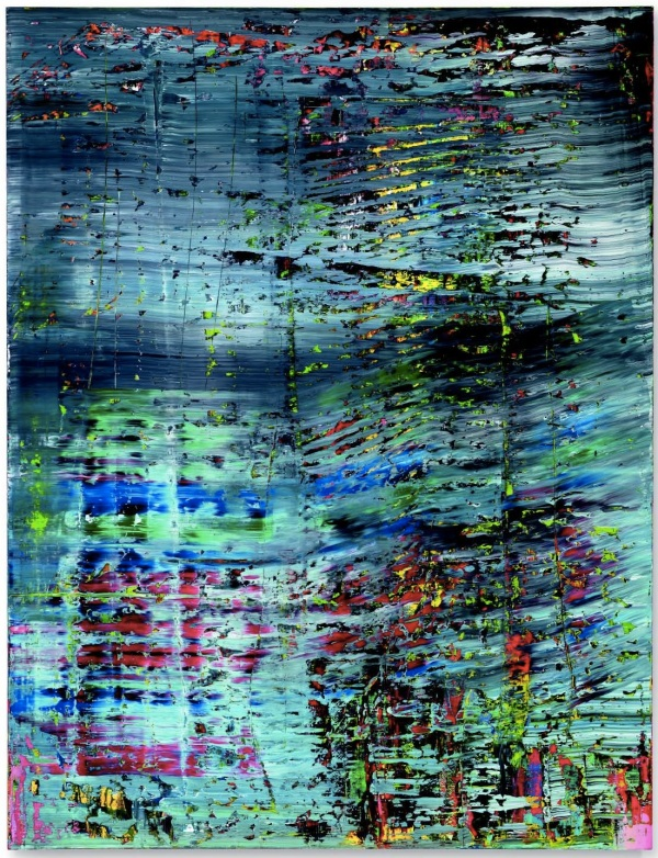 Lot 15. Gerhard Richter (b. 1932)  Abstraktes Bild (712)  signed, numbered and dated '712 Richter 1990' (on the reverse)  oil on canvas  102¼ x 78½ in. (260 x 200 cm.)  Painted in 1990.  Estimate: $22-28 million. Click on image to enlarge.