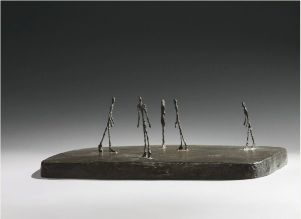 Lot 18. ALBERTO GIACOMETTI 1901 - 1966 LA PLACE Inscribed with the signature A. Giacometti, with the foundry mark Alexis Rudier Fondeur Paris and numbered 4/6 Bronze Length: 24 1/2 in. 62.2 cm Conceived and cast in 1948. Estimate: $12-18 million. Click on image to enlarge.