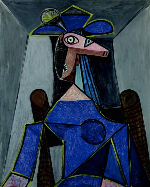 Lot 29. PABLO PICASSO (1881-1973) Portrait de femme (Dora Maar) signed 'Picasso' (upper left) oil on panel 39¿ x 31æ in. (99.4 x 80.8 cm.) Painted in Paris, 5 August 1942 $25-35 million. Click on image to enlarge.