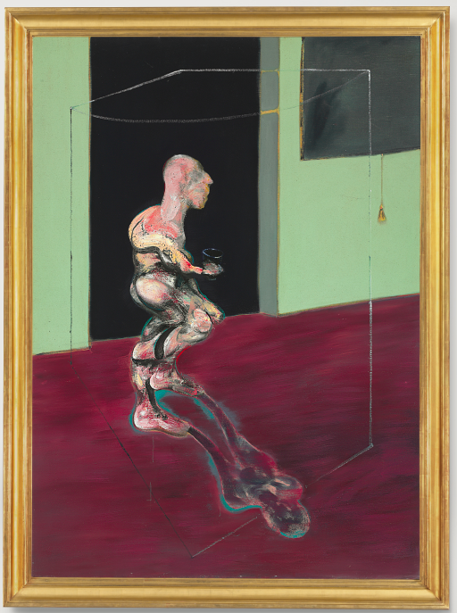 Lot 37. Francis Bacon (1909-1992)  Figure Turning  titled and dated 'Figure Turning 1962' (on the reverse)  oil on canvas  78 1/8 x 57 in. (198.4 x 144.7 in.)  Painted in 1962.  Estimate: $20-30 million.