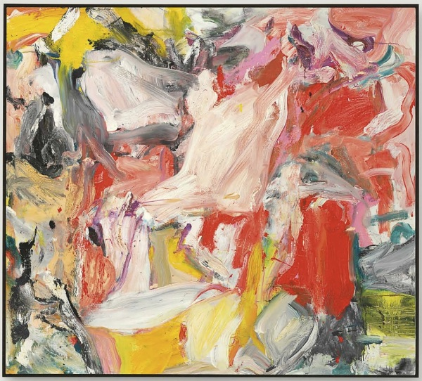 Lot 39. Willem de Kooning (1904-1997)  Untitled XXXI  signed 'de Kooning' (on the reverse)  oil on canvas  54 x 60 in. (137.1 x 152.4 cm.)  Painted in 1977.  Estimate: $8-12 million. Click on image to enlarge.