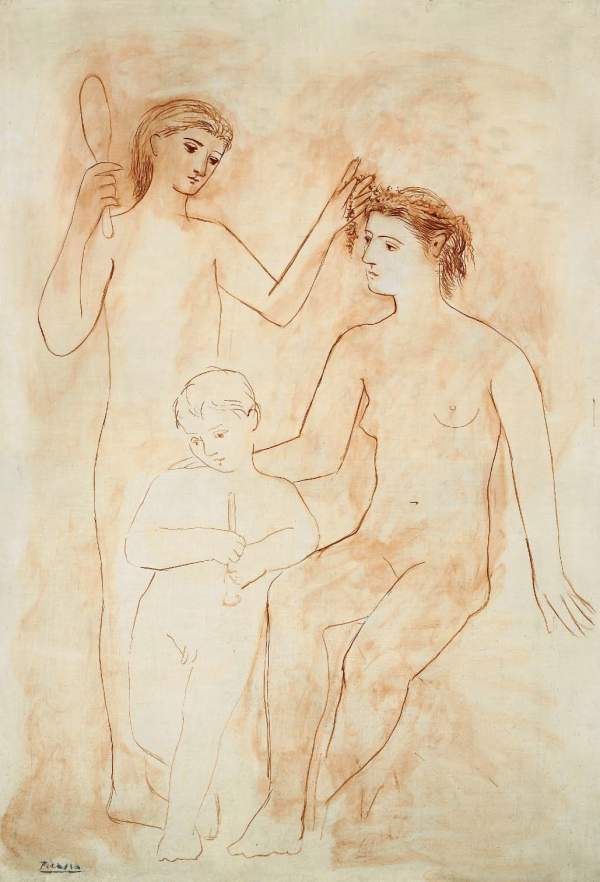 Lot 42. PABLO PICASSO (1881-1973) Deux femmes et enfant signed 'Picasso' (lower left) oil on canvas 74¡ x 50√ in. (189 x 129.2 cm.) Painted in Paris, winter 1922 $12-16 million.