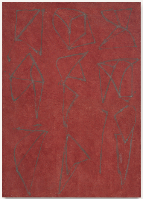 Lot 49. Brice Marden (b. 1938)  5 (Note to My Self)  signed, titled and dated '5 (NOTE TO MY SELF) 1987-8 B. Marden' (on the reverse) oil on linen  84 x 60 in. (213.3 x 152.4 cm.)  Painted in 1987-1988.  Estimate: $5-7 million.