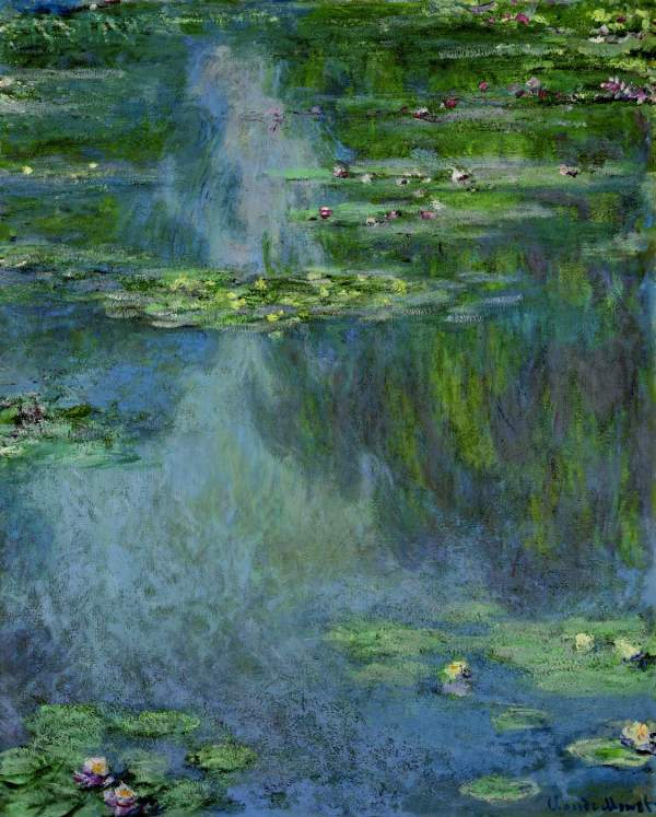 Lot 8. CLAUDE MONET (1840-1926) Nymphéas signed 'Claude Monet' (lower right) oil on canvas 39¡ x 32 in. (100.1 x 81.2 cm.) Painted in 1907 $25-35 million. Click on image to enlarge.