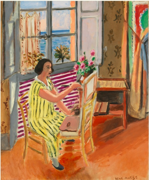 Lot 8. HENRI MATISSE 1869 - 1954 LA SÉANCE DU MATIN Signed Henri Matisse (lower right) Oil on canvas 29 1/8 by 24 in. 74 by 61 cm Painted in 1924. Estimate: $20-30 million.