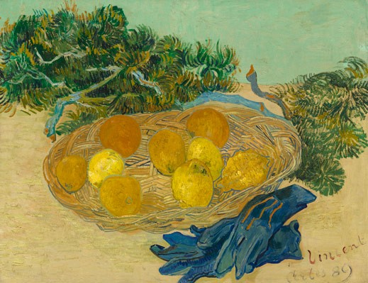 Vincent van Gogh, Still Life of Oranges and Lemons with Blue Gloves, 1889, oil on canvas, National Gallery of Art, Washington, Collection of Mr. and Mrs. Paul Mellon