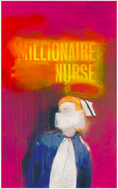 Lot 32. RICHARD PRINCE B.1949 MILLIONAIRE NURSE signed, titled and dated 2002 on the overlap inkjet print and acrylic on canvas 58 x 36 in. 147.3 x 91.4 cm. Estimate: $3-4 million.