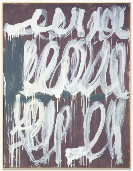 Lot 41. CY TWOMBLY 1928-2011 UNTITLED acrylic on canvas 84 5/8 x 65 1/2 in. 214.9 x 166.7 cm. Executed in 2006. Estimate: $9-12 million.