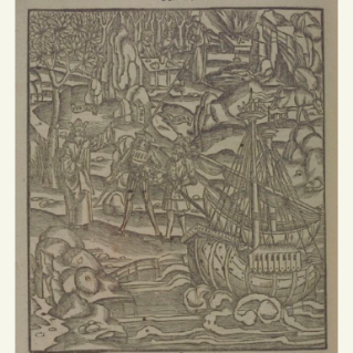 Johann Grüninger after a design by Sebastian Brandt, Pallas conducts Aeneas from the ship to his father, woodcut, circa 1502.