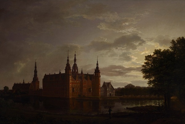 Johan Christian Dahl, Frederiksborg Castle, 1817, oil on canvas, Dallas Museum of Art, Foundation for the Arts Collection, Mrs. John B. O'Hara Fund. Click on image to enlarge.