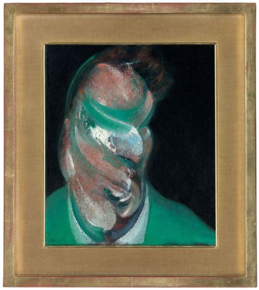 Lot 16. Francis Bacon (1909-1992) Study for Head of Lucian Freud  titled and dated 'Study for Head of Lucian Freud 1967' (on the reverse) oil on canvas 14 x 12in. (35.5 x 30.5cm.)  Painted in 1967 Estimate on Request.
