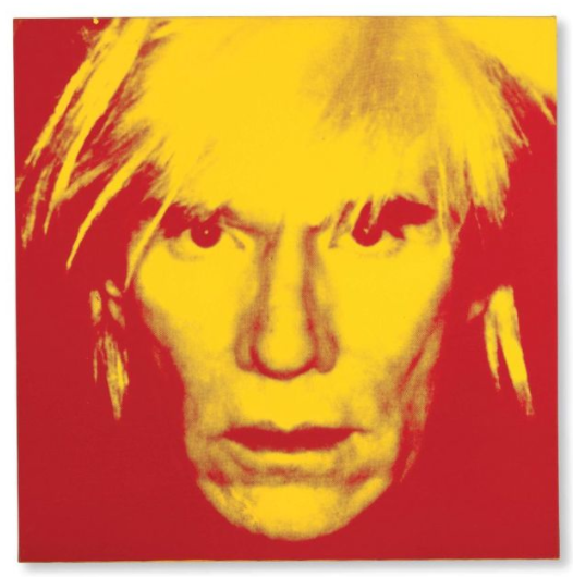 Lot 29. Andy Warhol (1928-1987) Self-Portrait (Fright Wig) stamped with the Estate of Andy Warhol stamp and the Andy Warhol Foundation for the Visual Arts stamp and numbered 'PA 40.021' (on the overlap); stamped with the Andy Warhol Foundation for the Visual Arts stamp (on the reverse); numbered 'PA 40.021' (on the stretcher)  acrylic and silkscreen ink on linen 40 x 40in. (101.6 x 101.6cm.) Executed in 1986 Estimate: £6-9 million ($10,218,000 -15,327,000).