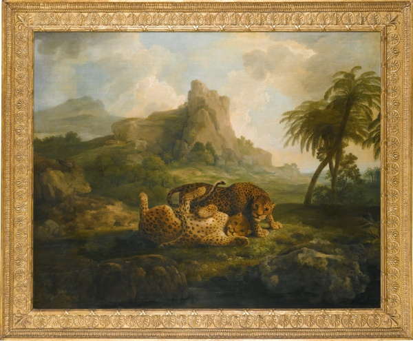 Lot 22. GEORGE STUBBS, A.R.A. LIVERPOOL 1724 - 1806 LONDON 'TYGERS AT PLAY' oil on canvas 101.5 by 127 cm.; 40 by 50 in. Estimate: 4-6 million. Click on image to enlarge.