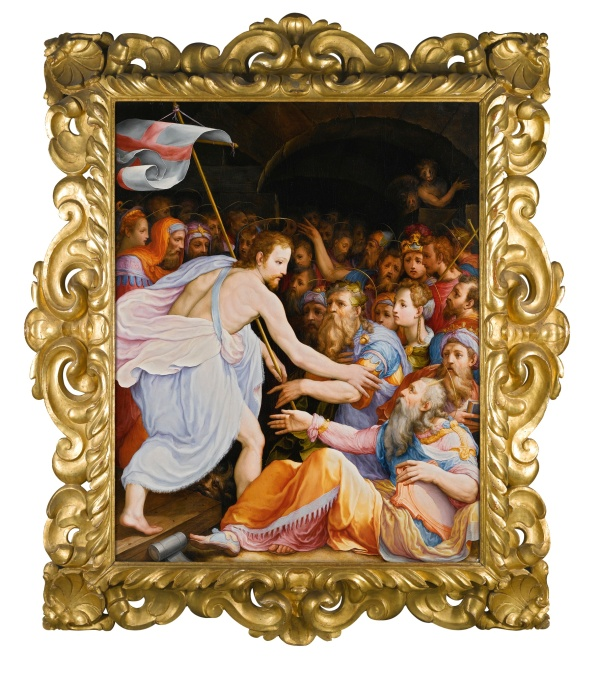 Lot 26. FLORENTINE SCHOOL, CIRCA 1560 THE DESCENT INTO LIMBO oil on panel 146 by 114 cm.; 57 1/2  by 44 7/8  in. Estimate: 500,000-700,000. Click on image to enlarge.