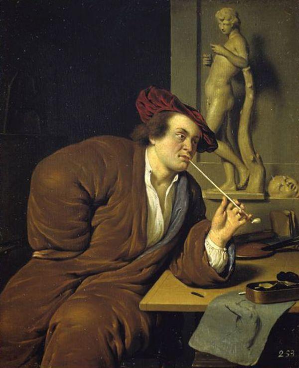 Jan van Mieris, Self-Portrait, 1688, Kunsthalle Hamburg.