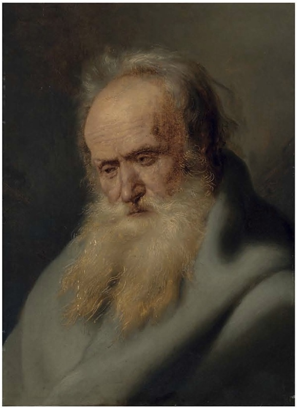 Lot 32. Jan Lievens (Leiden 1607-1674 Amsterdam) Tronie of an old man oil on panel 22 5/8 x 16¼ in. (57.6 x 41.2 cm.) Estimate: £500,000-800,000 ($857,000-1,371,200). Click on image to enlarge.