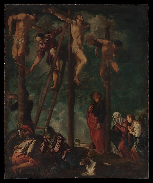 The Crucifixion Pedro Orrente  (Spanish, Murcia 1580–1645 Valencia) Date: ca. 1625–30 Medium: Oil on canvas Dimensions: 48 3/4 × 40 1/2 in. (123.8 × 102.9 cm) Classification: Paintings Credit Line: Purchase, Charles and Jessie Price and Fern and George Wachter Gifts, 2014 Accession Number: 2014.228