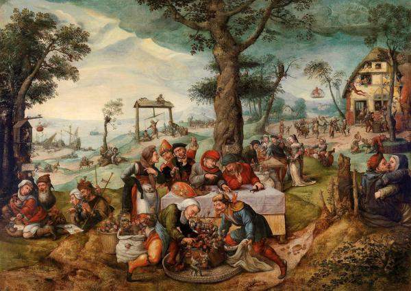 Lot 33. Frans Verbeeck (Mechelen c. 1510–1570)  The Mocking of Human Follies, oil on canvas, 135 x 188 cm, framed  Estimate: €900,000 – 1,200,000 Click on image to enlarge