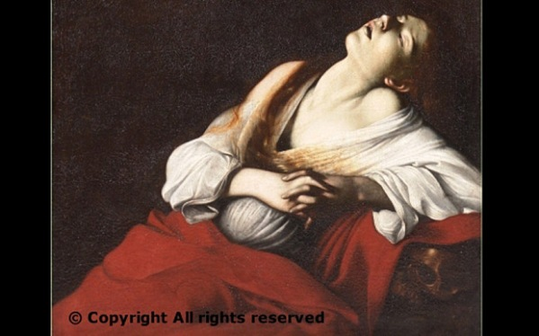 "Mary Magdalene in Ecstasy - The painting refers to the legend in which Mary Magdalene, living as a hermit in a cave in southern France near Aix-en-Provence after Christ's death, was overcome seven times a day by ""the delightful harmonies of the celestial choirs"" Photo: LA REPUBBLICA"