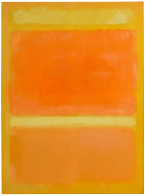 Wall Of Light Orange Yellow : USD 39.9 Million Rothko Leads USD 158.7 Million Sale of Art from Bunny Mellon?s Estate Nord on Art