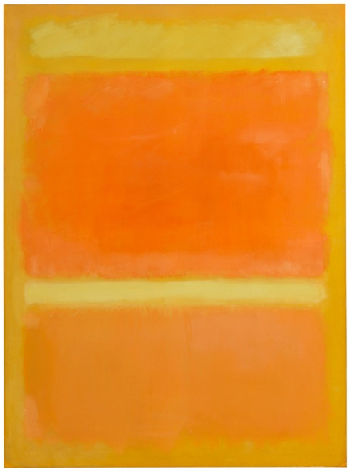 Lot 14. MARK ROTHKO 1903 - 1970 UNTITLED (YELLOW, ORANGE, YELLOW, LIGHT ORANGE) signed and dated 1955 on the reverse oil on canvas 81 1/2 by 60 in. 207 by 152.5 cm. Estimate $20-30 million.