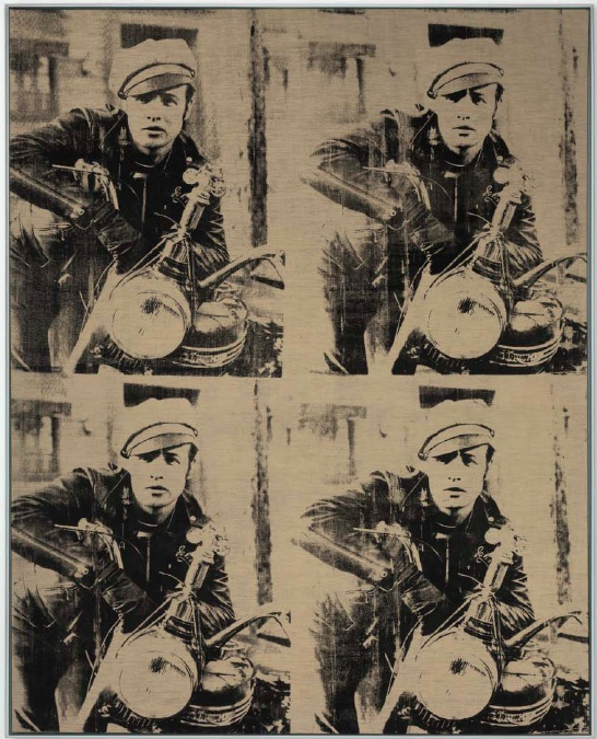 Lot 10. Andy Warhol (1928-1987) Four Marlons signed and dated 'Andy Warhol 66' (on the overlap) silkscreen ink on unprimed linen 81 x 65 in. (205.7 x 165.1 cm.) Painted in 1966. Estimate: approximately $65 million.
