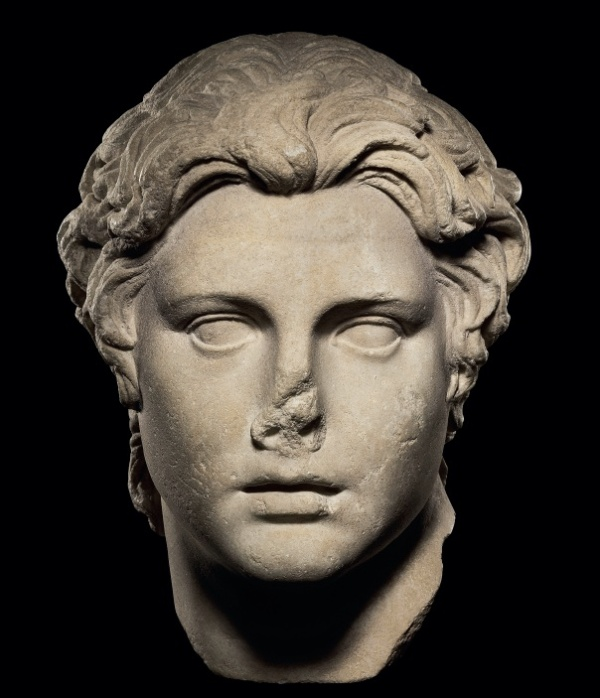 Lot 140. A ROMAN MARBLE PORTRAIT OF ALEXANDER THE GREAT CIRCA 1ST CENTURY A.D. 12 in. (30.4 cm.) high Estimate: $700,000-900,000. Provenance Antiquities, Sotheby's, London, 14 July 1986, lot 163. with Andre Emmerich, New York, 1987.