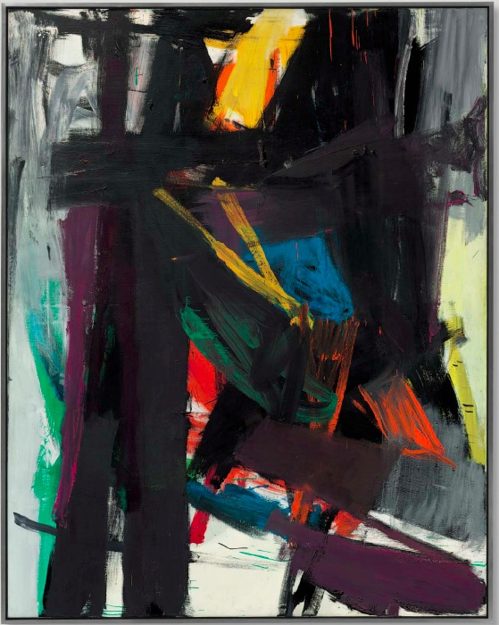 Lot 23. Franz Kline (1910-1962) King Oliver signed and dated 'FRANZ KLINE 58' (on the reverse) oil on canvas 99 x 77 1/2 in. (251.4 x 196.8 cm.) Painted in 1958. Estimate: $25-35 million.