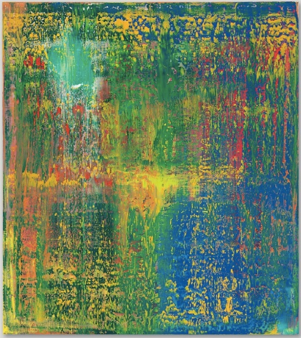 Lot 37. Gerhard Richter (b. 1932) Abstraktes Bild (648-3) signed, numbered and dated 'Richter 1987 648-3' (on the reverse) oil on canvas 88 3/4 x 78 3/4 in. (225.4 x 200 cm.) Painted in 1987. Estimate: $20-30 million.