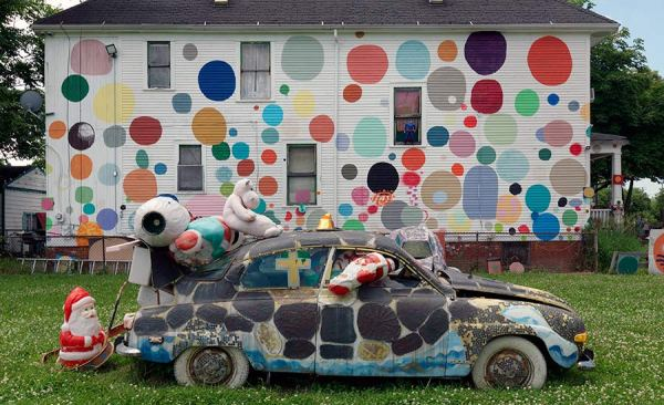 Part of the Heidelberg Project in Detroit. Image © The Cultural Landscape Foundation.