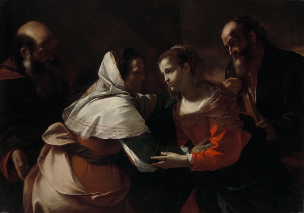 "Mattia Preti (Italian, 1613–1619), The Visitation, oil on canvas, 47 5/16""H × 67 1/32""W. Virginia Museum of Fine Arts, Richmond. Arthur and Margaret Glasgow Endowment. Click on image to enlarge."