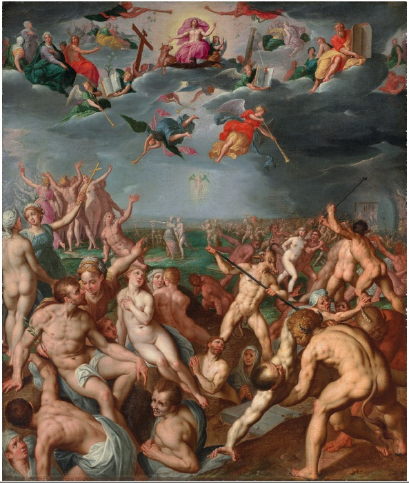 Lot 107. Jacob de Backer (Antwerp c. 1555-1585) The Last Judgment oil on canvas 56 x 47 7/8 in. (142.2 x 121.2 cm.). Estimate: $80,000-120,000.
