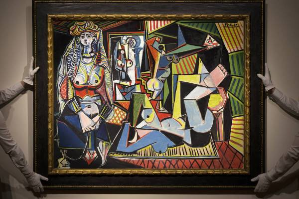 Pablo Picasso, Women of Algiers (Version O), 1955. Click on image to enlarge.