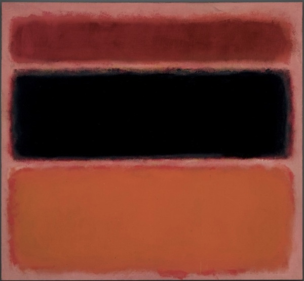 Lot 13a. Mark Rothko (1903-1970) No. 36 (Black Stripe) signed, titled and dated 'MARK ROTHKO #36 - 1958' (on the reverse) oil on canvas 61 7/8 x 67 in. (157.1 x 170.1 cm.) Painted in 1958. Estimate: $30-50 million.
