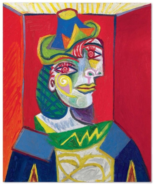 Lot 15a. Pablo Picasso (1881-1973) Buste de femme (Femme à la résille) dated '12.1.38.' (on the stretcher) oil on canvas 25 5/8 x 21 ¼ in. (65.1 x 54 cm.) Painted in Paris on 12 January 1938. Estimate on Request.