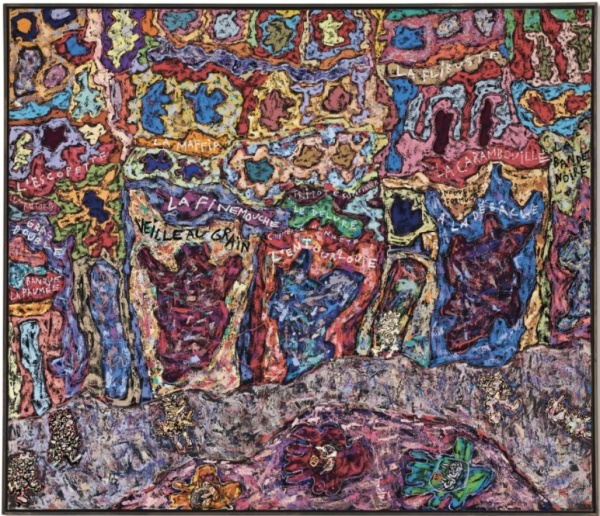 Lot 22a. Jean Dubuffet (1901-1985) Paris Polka signed and dated 'J. Dubuffet 61' (lower right) oil on canvas 74 3/4 x 86 1/2 in. (190 x 220 cm.) Painted in 1961.  Estimate on Request