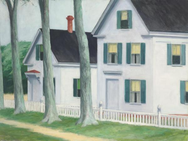 Edward Hopper (1882-1967), Two Puritans, oil on canvas, painted in 1945. Estimate: $20,000,000 – 30,000,000. Click on image to enlarge.