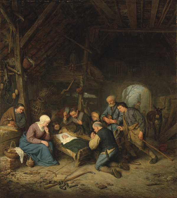 Adriaen van Ostade (1610-1685) Adoration of the Shepherds 1667 Estimate: £600,000-800,000. Click on image to enlarge.