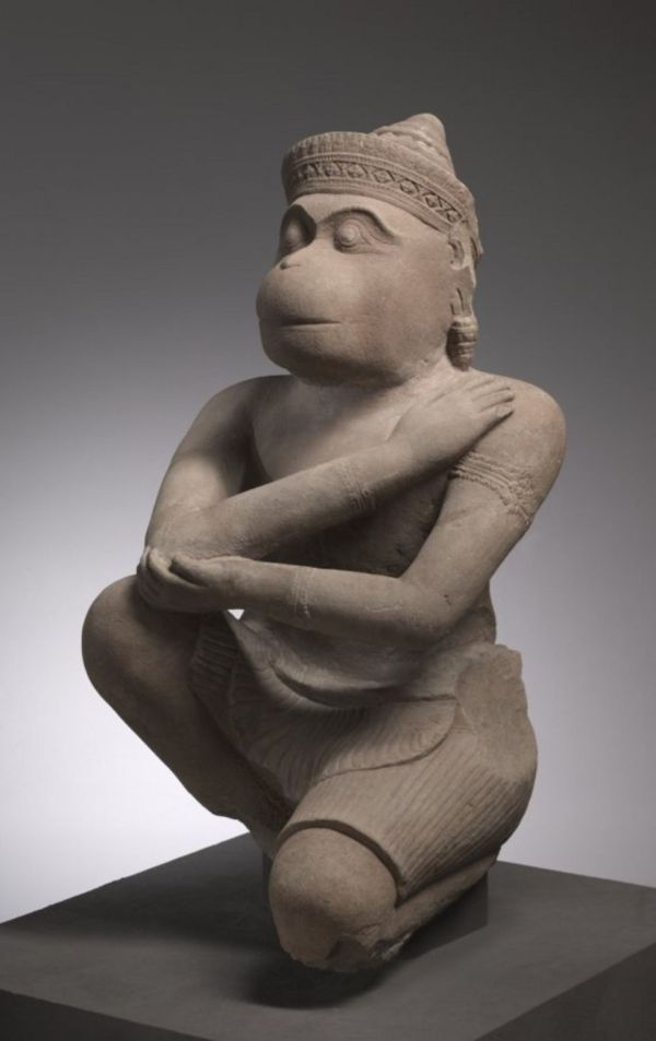 An image of the Hanuman statue returned to Cambodia by the Cleveland Museum of Art, taken from the museum's website. click on image too enlarge.
