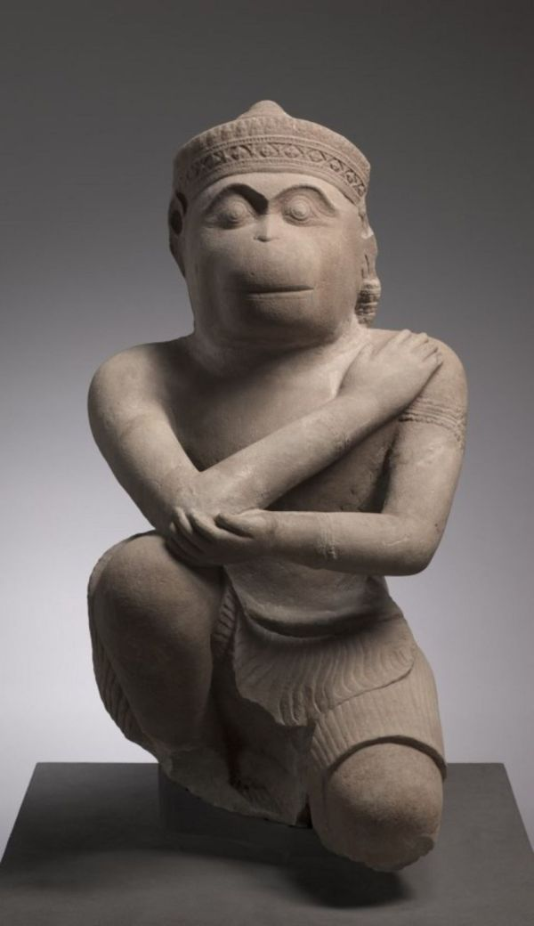 An image of the Hanuman statue returned to Cambodia by the Cleveland Museum of Art, taken from the museum's website. Click on image to enlarge.