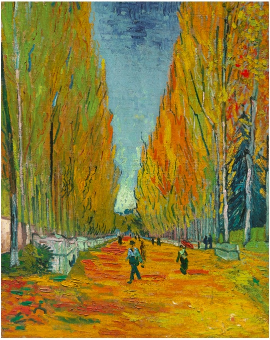Lot 18. Vincent van Gogh 1853 - 1890 L'ALLÉE DES ALYSCAMPS Oil on canvas 36 1/8 by 28 7/8 in. 91.7 by 73.5 cm Painted on November 1, 1888. Estimate on request.