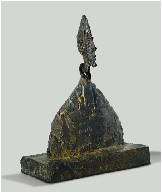 Lot 7. Alberto Giacometti 1901 - 1966 BUSTE DE DIEGO (AMÉNOPHIS) Inscribed with the signature Alberto Giacometti and with the foundry mark Susse Fondeur Paris, dated 1954 and numbered 3/8 twice Bronze Height: 15 1/4 in.; 38.7 cm Conceived in 1954 and cast before 1956. Estimate: $6-8 million.