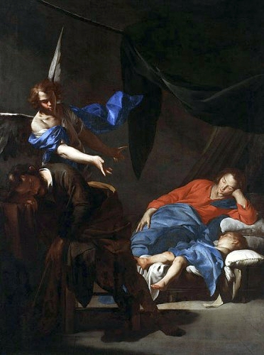 The Dream of Saint Joseph (c. 1645). Oil on canvas, 102 × 75 cm. National Museum, Warsaw.