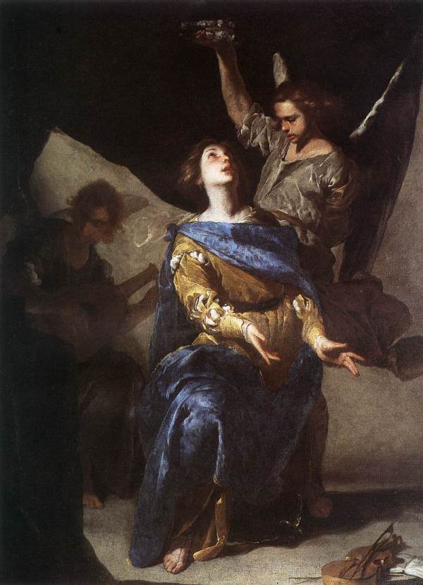 The Ecstasy of St Cecilia 1645 Oil on canvas Museo Nazionale di Capodimonte, Naples Click on image to enlarge.